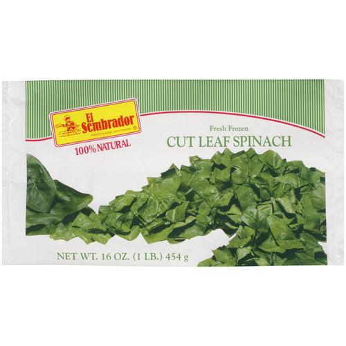 El Sembrador Fresh Frozen Cut Leaf Spinach, 16 oz