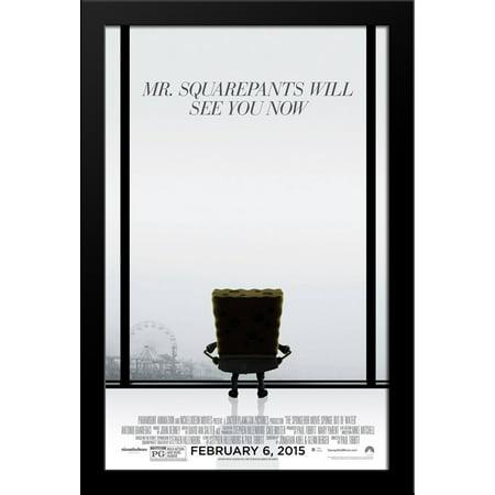 The SpongeBob Movie: Sponge Out of Water 28x38 Large Black Wood Framed Movie Poster Art Print