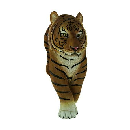 Tiger Walk Walking Bengal Tiger Cast Polyresin Wall Sculpture