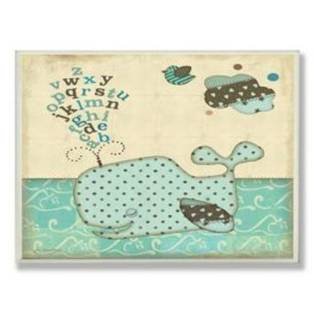 Stupell Industries BRP-1361 Whale with Alphabet Green Square Wall Plaque - image 1 of 1