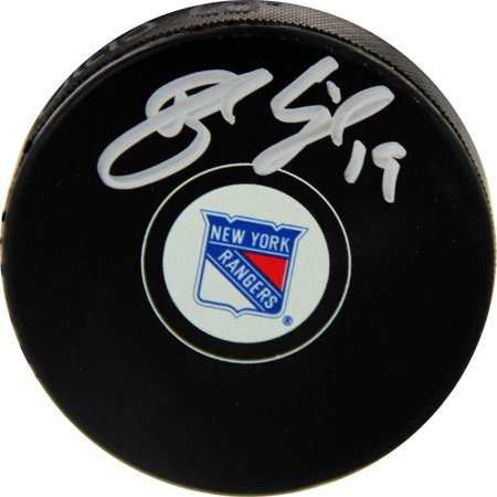New York Ringer (Brad Richards Autographed New York Rangers Puck)