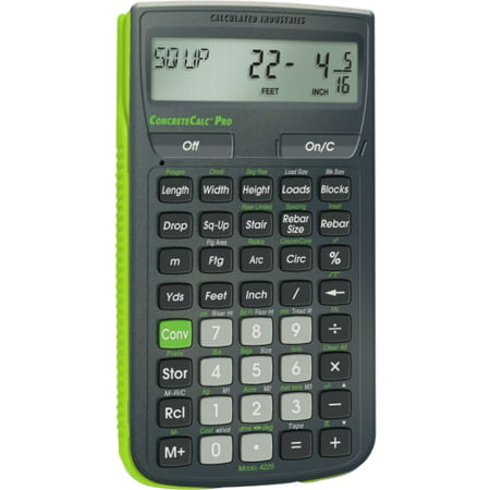 Calculated Industries ConcreteCalc Pro Advanced Yard, Feet, Inch, and Fraction Concrete Calculator (Convert Inches To Feet And Inches Calculator)