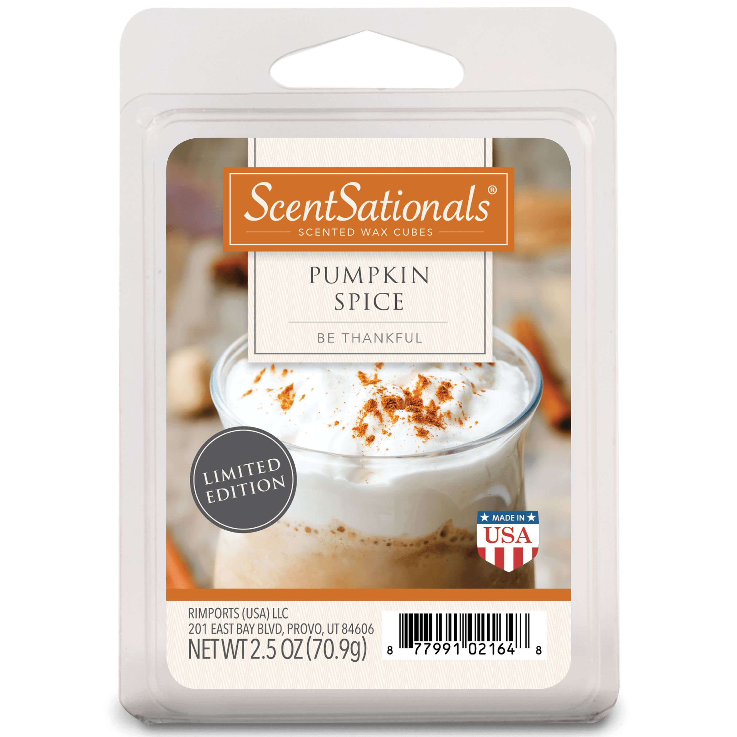 ScentSationals Scented Wax Cubes Pumpkin Spice