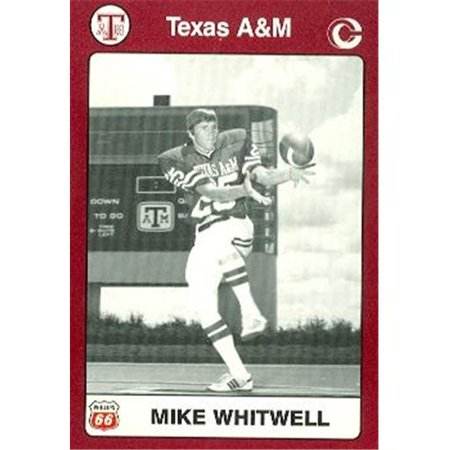 Mike Whitwell Football Card (Texas A&M) 1991 Collegiate Collection No.76 - Texas A&m Football Helmets Halloween