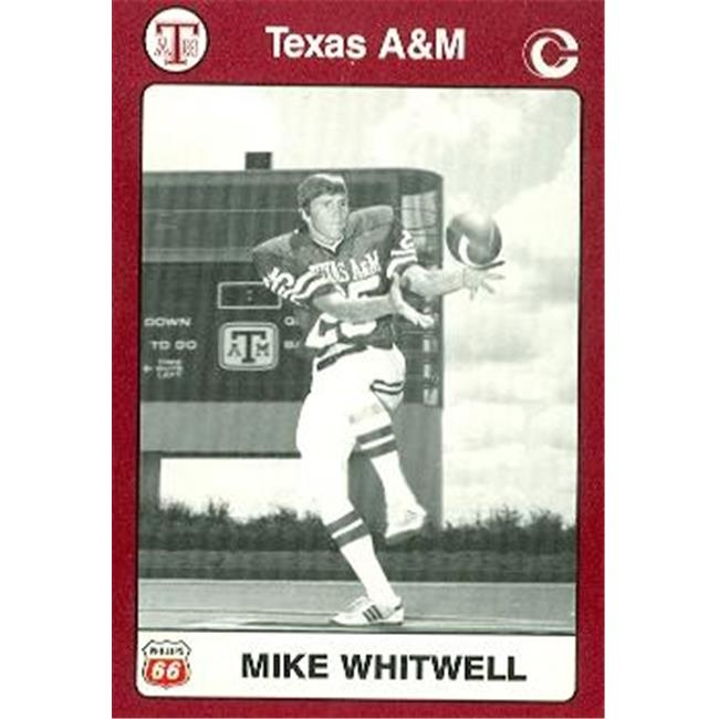 Mike Whitwell Football Card (Texas A&M) 1991 Collegiate Collection No.76