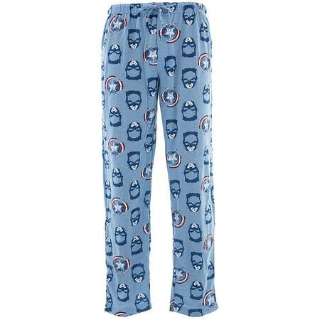 Marvel Men's Retro Captain America Knit Pajama Pants (Captain America Pajamas)