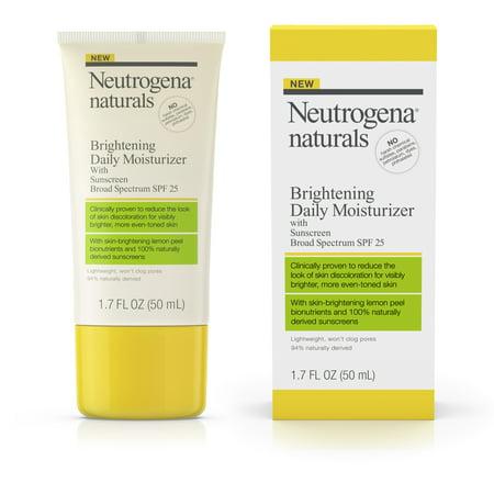 Neutrogena Naturals Brightening Daily Moisturizer SPF 25, 1.7 fl. oz (Tinted Moisturizer Sheer Spf 30 Oil Free)