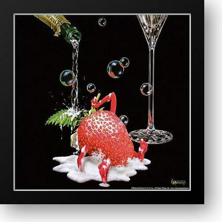 Bubbly Bath 16x16 Framed Art Print by Godard, Michael