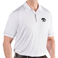 Antigua Men's Iowa Hawkeyes Salute Performance White Polo