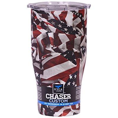 orca chaser one nation cooler, traditional/blue, 27 oz