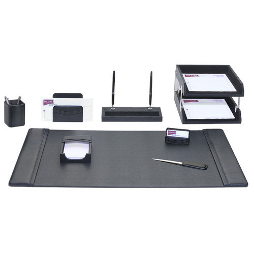 Dacasso Leather 10-Piece Desk Set
