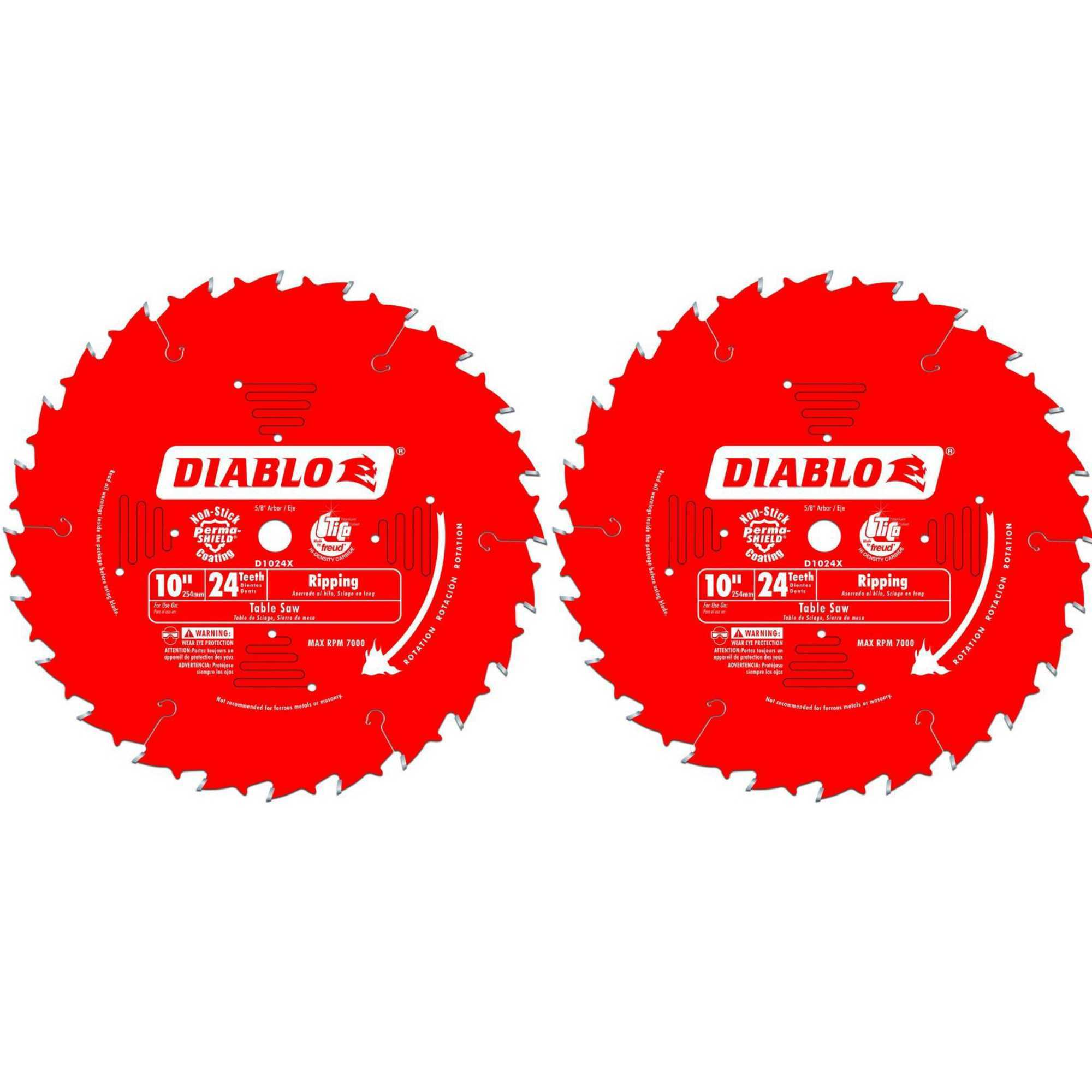 Freud D1024X Diablo 10-Inch 24-Tooth ATB Ripping Saw Blade 8 Pack