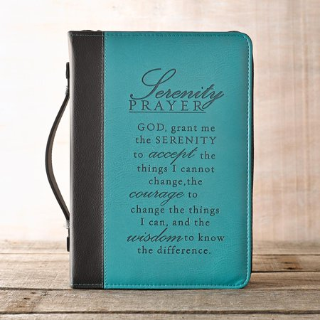 Serenity Prayer Two-Tone Bible Cover in Aqua (Medium) (Other)