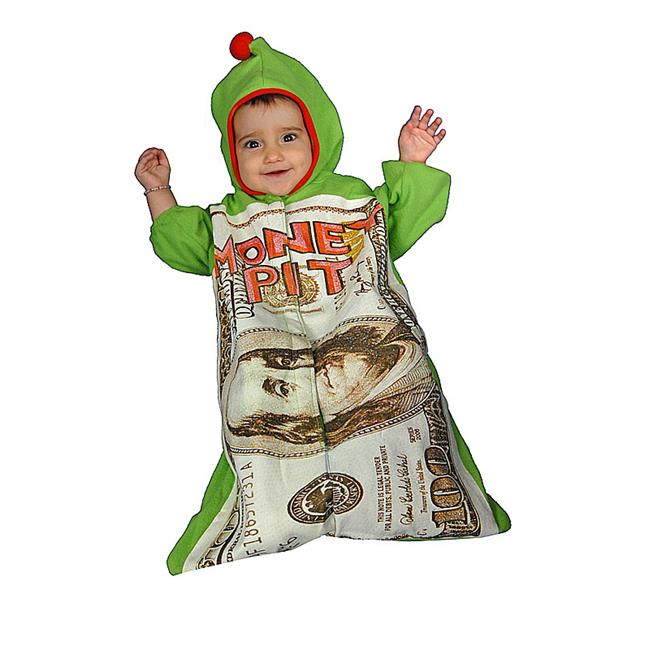 Dress Up America 452-12mo Infant Money Pit - Size 0-12 Months