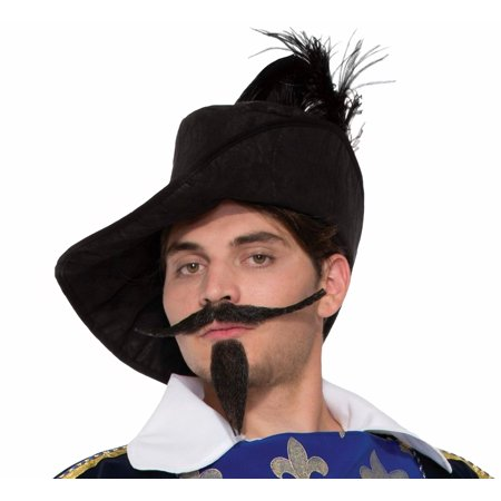 Fake Beard and Mustache Musketeer Facial Hair Faux Halloween Costume Accessory