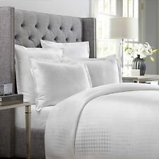 Wamsutta 620 Thread Count Dot European Pillow Sham in White ()
