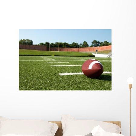 Closeup american football field wall mural by wallmonkeys for Alabama football wall mural