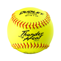 """Dudley 12"""" NFHS Thunder Heat Fastpitch Leather Softball"""