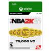 NBA 2K21: 75,000 VC, Take-Two 2K, XBox [Digital Download]