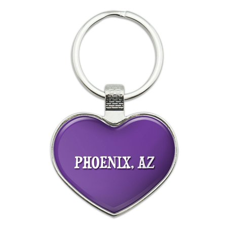I Love Phoenix AZ Heart Metal Key - Costume Stores In Phoenix Az