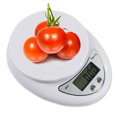 Digital Kitchen Food Scale Accurate Electronic Nutrition Weight Precise Baking Weighing Scales White ()