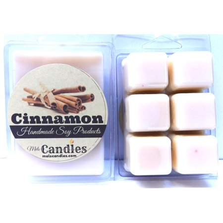 Cinnamon 3.2 Ounce Pack of Soy Wax Tarts - HANDMADE Scent Brick, Wickless Candle