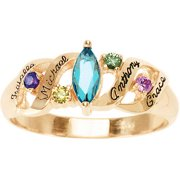 Personalized Ava Mother's Birthstone Ring