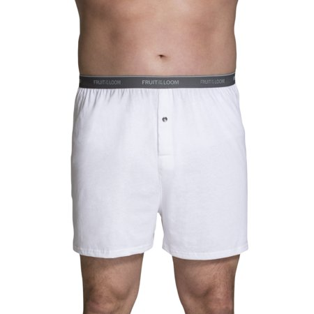 Fruit of the Loom Big Men's Cotton Knit Boxers, 3 Pack