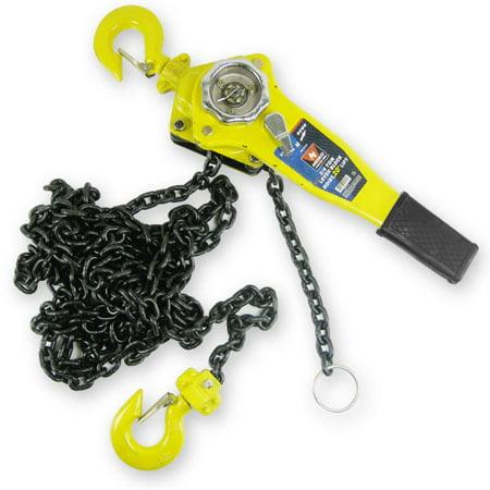 15ft Standard Lift Chain Hoist - Neiko Chain Hoists 6 Ton 5' Foot Lift 3/8