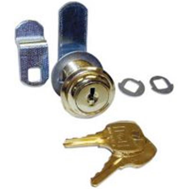 National Lock N8073 04G 642 0.88 in. Disc Tumbler Cam Lock with Flexafunction - Antique Brass