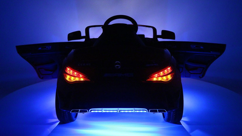 Mercedes Benz Cla45 Kids Ride On Car Toy Mp3 Usb 12v Bat Powered