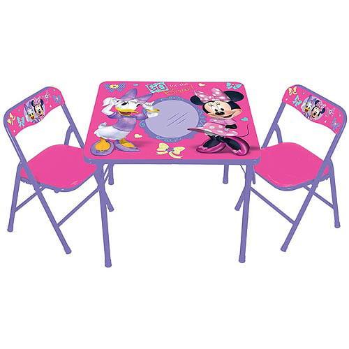Disney Minnie Mouse Springtime Garden Party Erasable Activity Table and Chairs Set