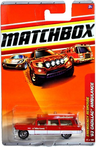 2010 Matchbox Emergency Response '63 Cadillac Ambulance 1:64 Scale Collectible Die Cast... by Mattel