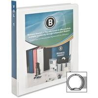 Business Source, BSN09953CT, Round-ring View Binder, 12 / Carton, White
