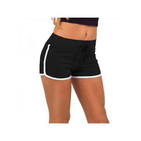 Women Sports Gym Workout Yoga Waistband Skinny Shorts (Best Workout Program For Skinny Guys)