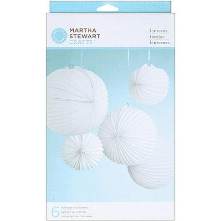 Martha Stewart Paper Lanterns, 6/pkg
