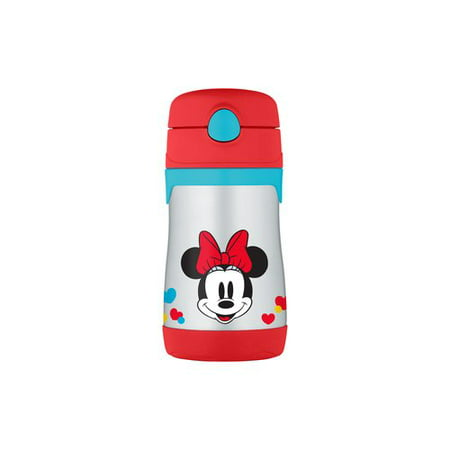 THERMOS Vacuum-Insulated Stainless Steel Straw Bottle, Minnie's Bow-Tique, BPA-Free, 10 oz - Minnie's Bowtique Halloween