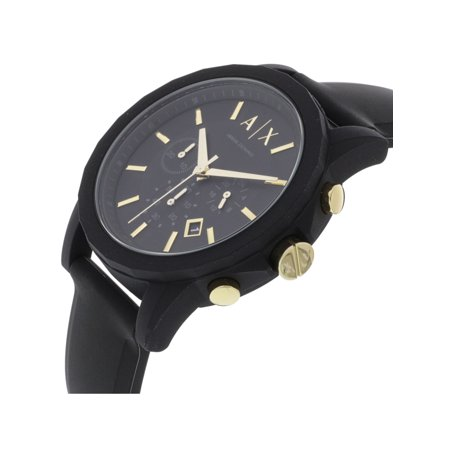 9715f7250 Armani Exchange Men's AX7105 Black Silicone Japanese Chronograph Fashion  Watch - image 1 of 5 zoomed image