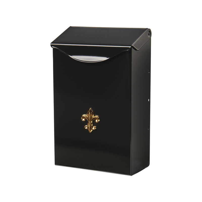 Gibraltar Mailboxes City Classic Black Steel Vertical Wall-Mount Mailbox Stylish