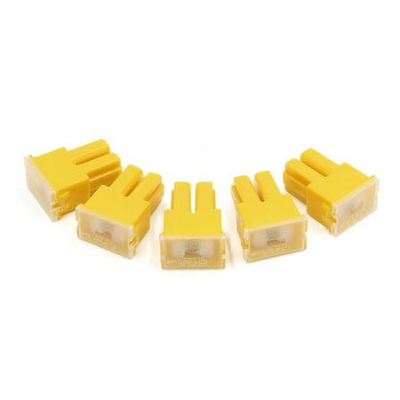 60Amp 32V PAL femelle Car Auto Link lente Fusible Bloc jaune 5pièces - image 1 de 1
