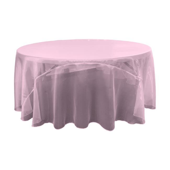 LA Linen TCOrgz108R-LilacO45 Sheer Mirror Organza Round Tablecloth, Lilac - 108 in. - image 1 of 1