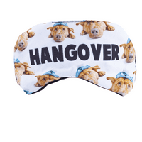 Lux Accessories Dog Pets Animal Lover Hangover Drunk Emoji Kitschy Sleeping Mask