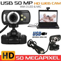 TSV USB 50MP HD Webcam Web Cam Camera Clip-on w/ MIC for Computer PC Laptop Desktop