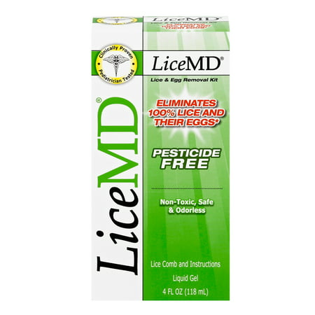 LiceMD Lice & Egg Removal Treatment Liquid Gel Kit 4 fl. oz. Box
