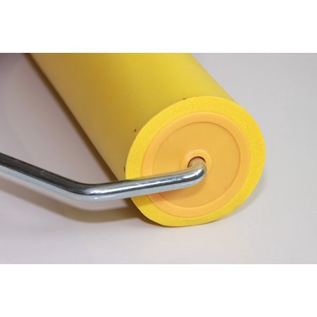 LAMINATED POSTER Yellow Seam Roller Wallpaper Rubber Tools Eva Poster Print 24 x 36