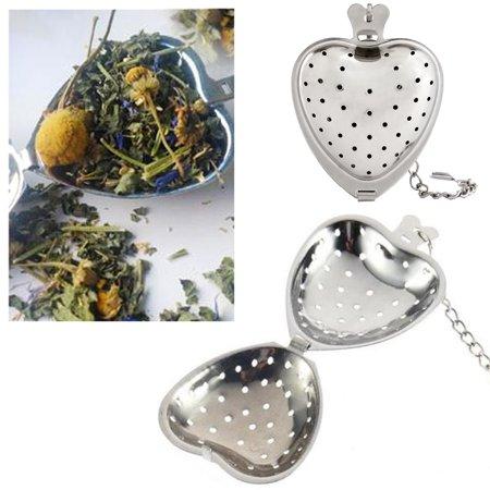 2 Heart Shape Stainless Steel Tea Infuser Loose Leaf Herb 2
