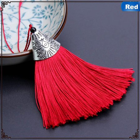 KABOER Handmade Cotton Thread Spike Delicate Tassel Pendant Trendy Selling Best (Best Long Jump Spikes)