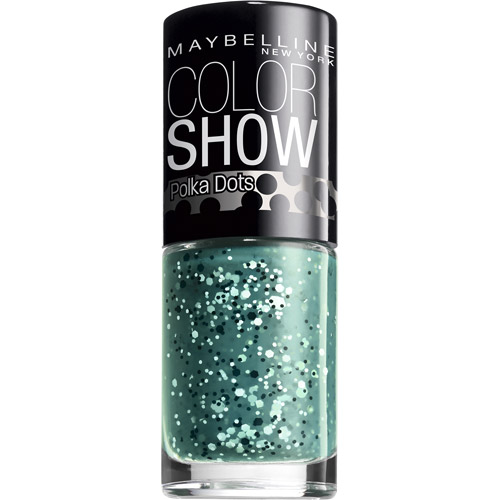 Maybelline Color Show Polka Dots Nail Lacquer, 0.23 fl oz, Drops of Jade
