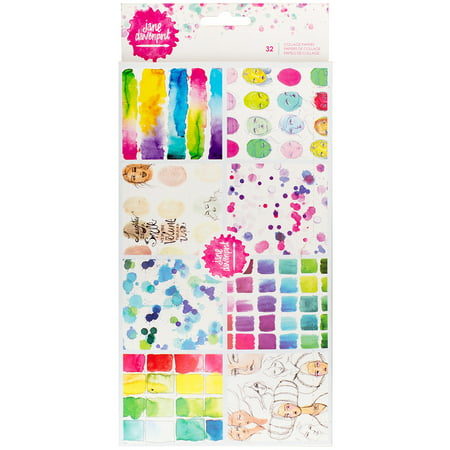 Jane Davenport Mixed Media 2-Ply Collage Paper 32/Pkg-8 Designs/4 Each