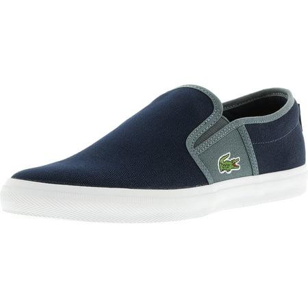 0704b19f94cf Lacoste - Lacoste Men s Gazon Sport Sep Spm Canvas Dark Blue   Grey  Ankle-High Fashion Sneaker - 7.5M - Walmart.com